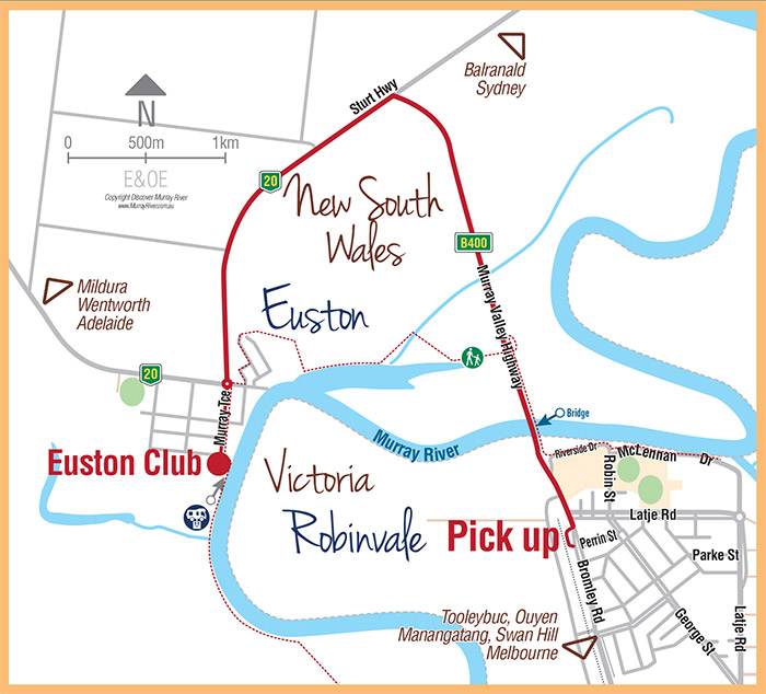 Euston Club location map