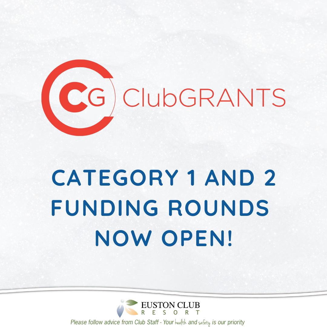 2021 Euston Club Resort Club Grants