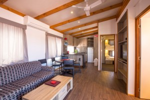 Euston Club Resort Cabin 12 lounge
