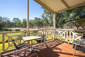 Euston Club Resort Cabin 8 verandah