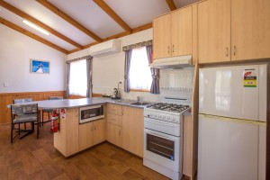 Euston Club Resort Cabin 9 kitchen