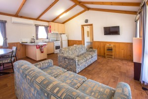Euston Club Resort Cabin 9 lounge